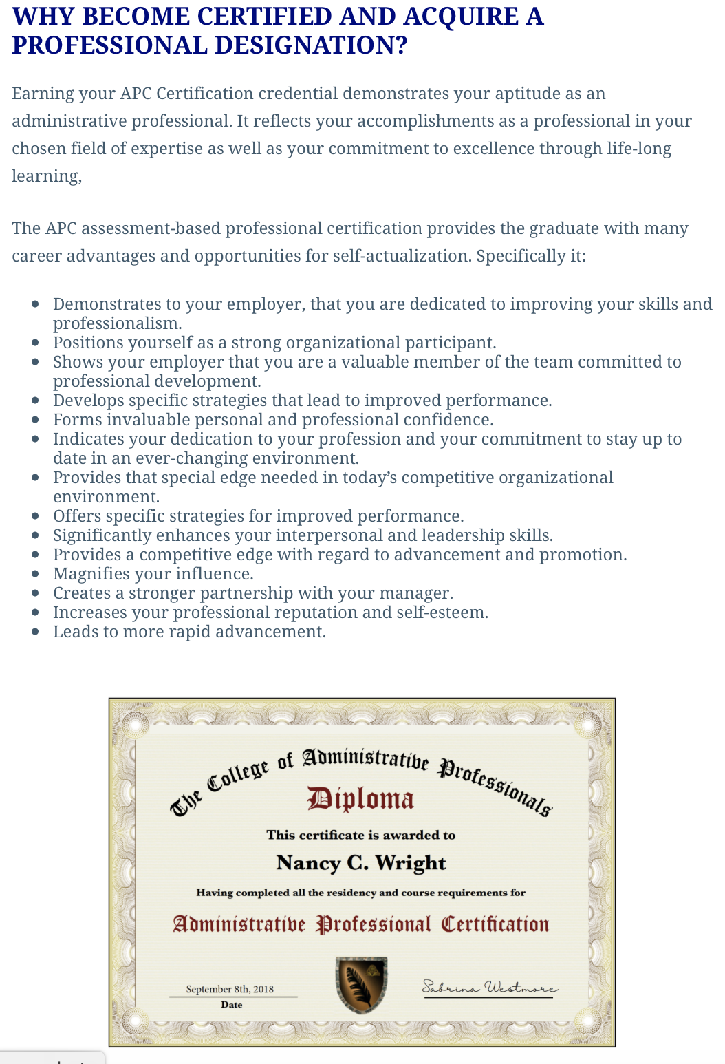 the world class apc certification course